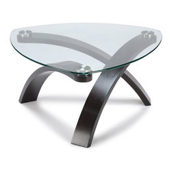Magnussen - Magnussen Allure Pie Shaped Cocktail Table in Hazelnut Finish - Magnussen - Coffee Tables - T139665XKIT