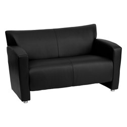 Flash Furniture - Flash Furniture Hercules Majesty Series Black Leather Loveseat - 222-2-BK-GG - Having the right office waiting room furniture is essential for companies wanting to send the proper message to both clients and employees. Not only will this chair fit in a professional environment, but will add a chic look to your living room space. This leather love seat will get the message sent properly with its uncomplicated yet attractive design to fit in a multitude of environments. [222-2-BK-GG]