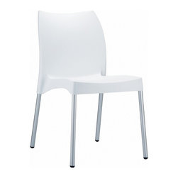 Siesta - Vita Resin Outdoor Dining Chair (set Of 2) - *Made from commercial grade resin with anodized aluminum legs, with non-skid rubber caps.