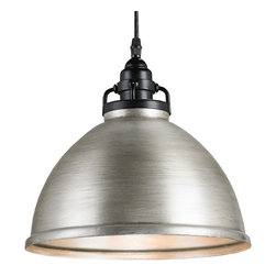 Currey and Company - Ruhl Pendant - With contrasting black and brushed nickel finishes for a classic look, this pendant is a simple, space-saving update that will transform your living area. Over your kitchen island or breakfast nook, it casts an inviting glow.