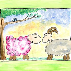 Oh How Cute Kids by Serena Bowman - Ewe Got Love, Ready To Hang Canvas Kid's Wall Decor, 8 X 10 - Each kid is unique in his/her own way, so why shouldn't their wall decor be as well! With our extensive selection of canvas wall art for kids, from princesses to spaceships, from cowboys to traveling girls, we'll help you find that perfect piece for your special one.  Or you can fill the entire room with our imaginative art; every canvas is part of a coordinated series, an easy way to provide a complete and unified look for any room.