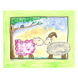 Oh How Cute Kids by Serena Bowman - Ewe Got Love, Ready To Hang Canvas Kid's Wall Decor, 24 X 30 - Each kid is unique in his/her own way, so why shouldn't their wall decor be as well! With our extensive selection of canvas wall art for kids, from princesses to spaceships, from cowboys to traveling girls, we'll help you find that perfect piece for your special one.  Or you can fill the entire room with our imaginative art; every canvas is part of a coordinated series, an easy way to provide a complete and unified look for any room.