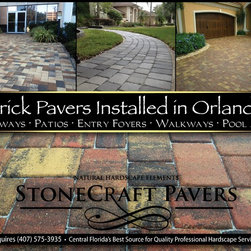 Brick Pavers Installed in Orlando by StoneCraft Pavers 407-575-3935 -