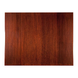 Anji Mountain - Anji Mountain Bamboo Tri-Fold 12mm Chairmat w/out Lip in Dark Cherry - Chairmat w/out Lip in Dark Cherry belongs to Bamboo Tri-Fold 12mm Collection by Anji Mountain Our patented Bamboo Office Chairmats have introduced eco-friendly style to what was formerly an unattractive and purely functional accessory. Naturally elegant bamboo is more durable than a plastic mat and adds a charming organic touch to any area. Chairmat (1)
