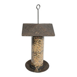 "Whitehall Products LLC - 12"" Oakleaf Tube Feeder - Oil Rub Bronze - Features:"