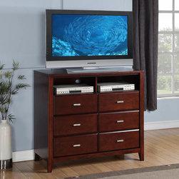 Alpine Furniture - Alpine Carrington Media Chest - Alpine Carrington Media Chest