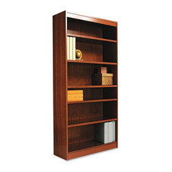 Alera - Alera BCS67236MO Square Corner Wood Veneer Bookcase - Medium Oak Multicolor - AL - Shop for Bookcases from Hayneedle.com! About AleraWith the goal of meeting the needs of all offices -- big or small casual or serious -- Alera offers an excellent line of furnishings that you'll love to see Monday through Friday. Alera is committed to quality innovative design precision styling and premium ergonomics ensuring consistent satisfaction.