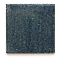 1013 Denim (Crackle and Glossy Finish) - Handmade Ceramic Tile - Handmade Ceramic Tile