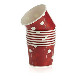 Cherry Paper Snack Bowls, Set of 8 - Make a batch of kettle corn! Then give everyone some in these little snack cups.