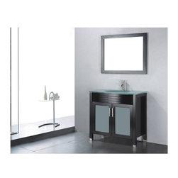Adornus - Adornus 5002-E30 Espresso Vanity - * Floor standing all Wood Vanity