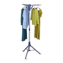 Honey Can Do - Honey Can Do Tripod Drying Rack Multicolor - DRY-02118 - Shop for Drying Racks from Hayneedle.com! Air-drying is a breeze with the Honey Can Do Tripod Drying Rack a space-efficient clothing rack that can hold up to 36 garments. Easy to store it has a free-standing collapsible base that can be locked in place when standing upright. This all-metal drying rack has a tripod design that allows it to make most of small-sized spaces.About Honey-Can-DoHeadquartered in Chicago Honey-Can-Do is dedicated to helping you organize your life. They understand that you need storage solutions that are stylish and affordable at the same time. Honey-Can-Do focuses on current design trends and colors to create products that fit your decor tastes while simultaneously concentrating on exceptional quality. When buying a Honey-Can-Do product you can be sure you are purchasing a piece that has met safety control standards and social compliance methods.