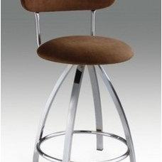 "Creative Images International 26"" Microfiber Barstool in Brown | Wayfair"