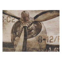 Paragon Art - Paragon Vintage Propeller - Artwork - Vintage Propeller ,  Paragon Canvas Transfer      Artist is Matthews , Paragon has some of the finest designers in the home accessory industry. From industry veterans with an intimate knowledge of design, to new talent with an eye for the cutting edge, Paragon is poised to elevate wall decor to a new level of style.