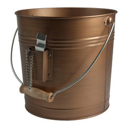 Artland - Antique Copper Oasis Beverage Pail - This vintage-style pail is great for filling full of bottles of brew or soda pop. Its metal construction only gets better with age, while the wood handle ensures it's easy to transport.   8.5'' H Holds six bottles Copper / wood Imported