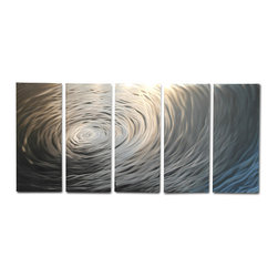 "Miles Shay - Metal Wall Art Decor Abstract Contemporary Modern Sculpture- Rippling 36"" - This Abstract Metal Wall Art & Sculpture captures the interplay of the highlights and shadows and creates a new three dimensional sense of movement as your view it from different angles."
