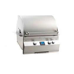 """Fire Magic - Aurora A530i2E1N Built In NG Grill with Rotisserie Backburner - A530 Built In Grill with Rotisserie Backburner & Grill LightA530i Features:Cast stainless steel """"E"""" burners - guaranteed for life"""