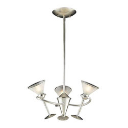 Elk Lighting - Elk Lighting 3655/3 Martini Glass Transitional Chandelier in Silver Leaf - Elk Lighting 3655/3 Martini Glass Transitional Chandelier in Silver Leaf