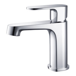 Fresca - Fresca Gravina Single Hole Mount Bathroom Vanity Faucet - Chrome - This single hole faucet is made from heavy duty brass with a chrome finish.  Features ceramic mixing valve for longevity and watertight functionality.