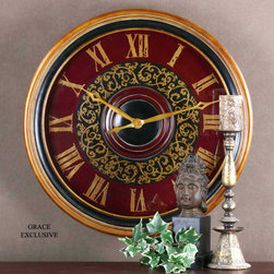 "6748 Natara, Clock by Uttermost - Get 10% discount on your first order. Coupon code: ""houzz"". Order today."