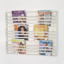 Deluxe Wall-Mount Magazine Rack