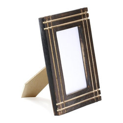 """SouvNear - SouvNear Handmade Mango Wood Standing Tabletop Photo Frame,  5""""x7"""" - * This picture frame is hand-carved and polished in Saharanpur, India by expert artisans"""