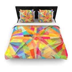 """Kess InHouse - Danny Ivan """"Star"""" Geometric Multicolor Cotton Duvet Cover (Twin, 68"""" x 88"""") - Rest in comfort among this artistically inclined cotton blend duvet cover. This duvet cover is as light as a feather! You will be sure to be the envy of all of your guests with this aesthetically pleasing duvet. We highly recommend washing this as many times as you like as this material will not fade or lose comfort. Cotton blended, this duvet cover is not only beautiful and artistic but can be used year round with a duvet insert! Add our cotton shams to make your bed complete and looking stylish and artistic!"""