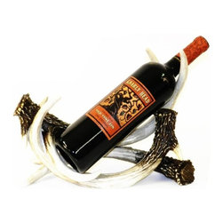 PS - 12 Inch Brown and White Deer Antlers Design Wine Bottle Holder - This gorgeous 12 Inch Brown and White Deer Antlers Design Wine Bottle Holder has the finest details and highest quality you will find anywhere! 12 Inch Brown and White Deer Antlers Design Wine Bottle Holder is truly remarkable.