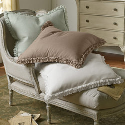 Ruffle Euro Sham - This item is part of the Soft Surroundings Basics Collection.