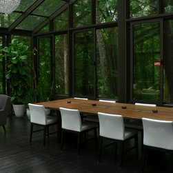 Serene Solarium Live Edge Table - A wonderful customer of ours sent this photo with these kind words...