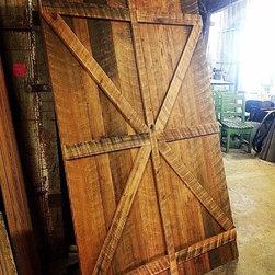 Custom Sliding Barn Style Doors: Reclaimed Antique Cypress - Custom Sliding Barn Style doors built using reclaimed Old Growth Cypress.