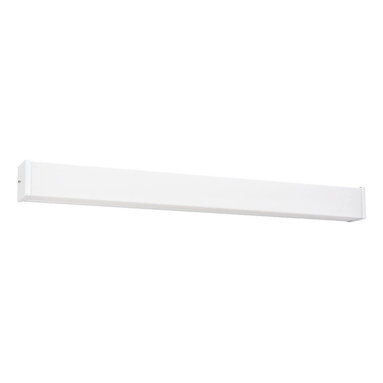 Seagull - Seagull Fluorescent Energy Star fixtures Bathroom Lighting Fixture in White - Shown in picture: 49025LE-15 Two Light Multi-volt Square Fluorescent Strip in White Finish in White finish; Energystar Compliant; Energystar Compliant