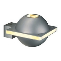 "SLV Lighting - SLV Lighting UFO Beam Outdoor Wall Luminaire - The UFO beam wall luminaire was designed in Germany. Suitable for residential and commercial applications. Double light source shine light up and down. With 15,000 hours expected life (12 month guarantee) with 25 degree beam spread. The body is made of aluminum and glass with a modern shape fixture.  Product Details: The UFO beam wall luminaire was designed in Germany. Suitable for residential and commercial applications. Double light source shine light up and down. With 15,000 hours expected life (12 month guarantee) with 25 degree beam spread. The body is made of aluminum and glass with a modern shape fixture.  Details:                                     Dimensions:                                     Height Max: 5.1"" (12.95 cm) X Width: 4.1"" (10.41 cm) x Depth: 6.4"" (16.25 cm)                                                     Light bulb:                                     1 X 40W G9 halogen (excl.)                                                     Material:                                     Aluminum             Lens: Glass             Light surface: PC                         ETL - listed certified for use in U.S., Canada and all other countries worldwide."