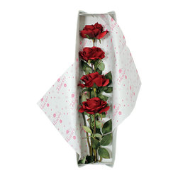 None - Red Roses Silk Flower Bouquet and Valentine's Gift Box - Brighten your day or someone else's with this beautiful,long lasting silk floral bouquet. Handcrafted with artisan design,this charming arrangement uses only the highest quality silk flower components and comes beautifully packaged and gift ready.