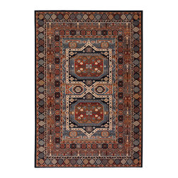 """Couristan - Timeless Treasures Maharaja Rug 4324/0500 - 4'6"""" x 6'6"""" - Because these area rugs contain such exquisite detail, other patterns showcased in your room-setting should be represented on a smaller scale. Choose a secondary color found in your area rug and complement it with your wall paint or use pillows and fabrics that are similar. Layering colors and textures makes your interior decor feel cohesive and well thought out."""