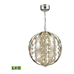 """Elk Lighting - Elk Lighting Light Spheres Collection Led Pendant In Polished Chrome - 11728/LED - Led Pendant In Polished Chrome - 11728/LED in the Light Spheres collection by Elk Lighting This collection features Chrome plated glass balls which appear to """"float"""" inside a laser cut stainless steel frame.  Hundreds of LED lights mounted to the inside of the frame reflect the inner elements for added illusion and a captivating performance.  Pendant (1)"""