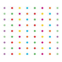 Dana Decals - Small Multi-Colored Polka Dots Wall Decals - Ideal for homes, kids rooms, coffee shops, and schools.