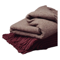 Decicle Alpaca Throw Blanket, Red - We never thought wool could be so chic and cozy. This amazing decorative sofa throw blanket proves us wrong by combining hand loomed and hand finished wool with Baby Alpaca for a feel that is soft, textural and super gorge on a couch or bed.
