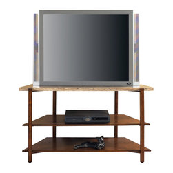 Steve Silver Furniture - Steve Silver Tivoli Faux Marble Top TV Stand - The Tivoli TV stand is simple yet functional. It features marble top and wooden shelves great for housing a cable box, DVD player, or a movie collection.