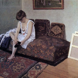 "Felix Vallotton The Black Stocking - 16"" x 20"" Premium Archival Print - 16"" x 20"" Felix Vallotton The Black Stocking premium archival print reproduced to meet museum quality standards. Our museum quality archival prints are produced using high-precision print technology for a more accurate reproduction printed on high quality, heavyweight matte presentation paper with fade-resistant, archival inks. Our progressive business model allows us to offer works of art to you at the best wholesale pricing, significantly less than art gallery prices, affordable to all. This line of artwork is produced with extra white border space (if you choose to have it framed, for your framer to work with to frame properly or utilize a larger mat and/or frame).  We present a comprehensive collection of exceptional art reproductions byFelix Vallotton."