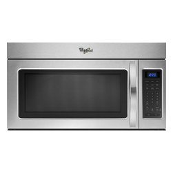None - Whirlpool 1.7-cubic foot Stainless Steel Over-the-Range Microwave - Featuring a two speed ventilation fan,blue LED display and two stage cooking,this over-the-range microwave from Whirlpool is perfect for making your favorite dishes. The sleek design will work in any modern kitchen.