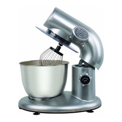 None - Knox Metallic Silver 650-Watt Stand Mixer with 6-Quart Capacity - 650 watts of mixing power make 'small potatoes' out of creaming butter,beating eggs,and whisking batter - and the chef in your will revel in the glory of easily mixing a batch of dough in its polished stainless steel bowl with six-quart capacity.
