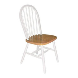 Home Decorators Collection - Windsor Spindle-Back Side Chair - First made in the 18th century by English woodworkers, Windsor chairs were designed to combine rugged strength with graceful style. Our Windsor Spindle-Back Side Chair stays faithful to that original ideal. Designed with beauty and comfort in mind, these fine Windsor-style wooden chairs are also built to last for years to come. Skillfully crafted of durable hardwood, and expertly finished to a hard-wearing, handsome sheen, this Windsor Spindle-Back Side Chair offers equal parts sturdiness and style. Suit a wide variety of seating needs. Blend beautifully with your existing furniture no matter what your decor.
