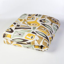 Atomic Dreams Collection - Finally bedding to go with your Mid Century home. Add a touch of hip sophistication to your home with this Atomic Dreams Collection.