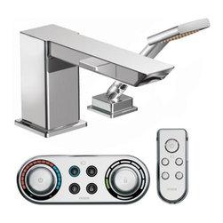 Moen - Moen High Arc Roman Tub Faucet Includes Hand Shower, Faucet, Shower Only - Moen TS9041 90 Degree High Arc Roman Tub Faucet Includes Hand Shower Iodigital Technology, Faucet and Shower Only, Chrome