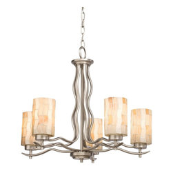 TIFFANY - TIFFANY Modern Mosaic Tiffany Transitional Chandelier X-05066 - A contemporary, updated take on traditional Tiffany inspired styling, this Kichler Lighting chandelier from the Modern Mosaic Collection features a beautiful Antique Pewter finish that accentuates the mosaic patterns of the art glass shades.