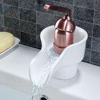Antique Copper Single Handle Centerset Bathroom Sink Faucet - Features: