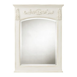 Home Decorators Collection - Chelsea Mirror - Our Chelsea Mirror features a rectangular frame with intricate, filigreed embellishments and molding on top and bottom. The beveled mirror arches at the top, creating a dramatic sense of space. Your choice of size. Your choice of finish. Beveled mirror. Wood cleat for easy hanging. Can only be hung vertically.