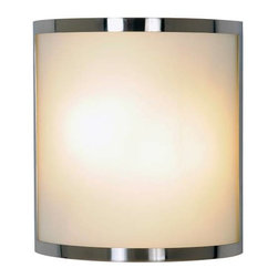 AF LIGHTING - Contemporary Lighting Collection, Wall Sconce, Brushed Nickel - Brighten any room with this contemporary wall sconce that features frosted glass and a beautiful brushed nickel finish.