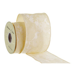 Silk Plants Direct - Silk Plants Direct Chantilly Lace Jacquard Ribbon (Pack of 6) - Pack of 6. Silk Plants Direct specializes in manufacturing, design and supply of the most life-like, premium quality artificial plants, trees, flowers, arrangements, topiaries and containers for home, office and commercial use. Our Chantilly Lace Jacquard Ribbon includes the following: