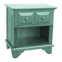EuroLux Home - New Nightstand Blue Painted Hardwood - Product Details